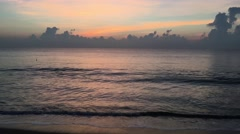 Sunrise at the beach from Arugam Bay Stock Footage