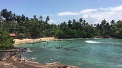 Dondra beach in Sri Lanka Stock Footage