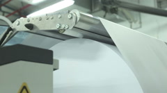 Idustrial inkjet printing machine dolly shot Stock Footage