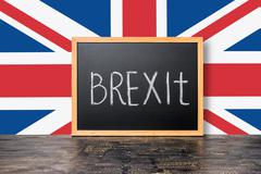 June 23: Brexit UK EU referendum concept with flag and handwriting text writt Stock Photos