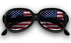 Sunglasses with US flag Stock Illustration