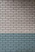 White and Aqua Painted Bricks Stock Photos
