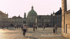 Amalienborg - Royal Danish Castle Stock Footage