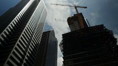 Construction, Building, Development, Clouds, Time Lapse Stock Footage