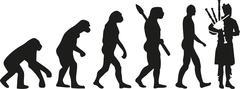 Bagpipe evolution Stock Illustration