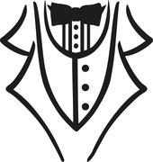Tuxedo with bow tie caligraphy style Stock Illustration