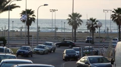 Tel Aviv - Mediterranean Sea Stock Footage
