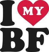 I love my bf boyfriend - stock illustration
