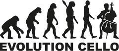 Evolution Cello player - stock illustration