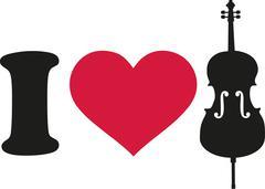 I love cello icon Piirros