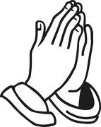 Hands praying - stock illustration