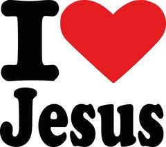 I love jesus - stock illustration