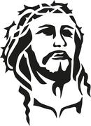 Jesus christ head Stock Illustration