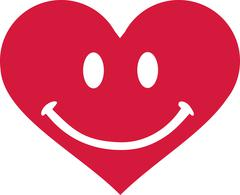 Heart with smiley face Stock Illustration
