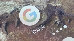 4K Google App Launching On Smartphone - Closeup - stock footage