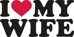 I heart my wife - stock illustration