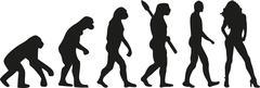 Hot girl evolution Stock Illustration
