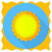 Vector flat sun icon - stock illustration