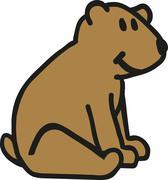 Sitting Teddy bear - stock illustration