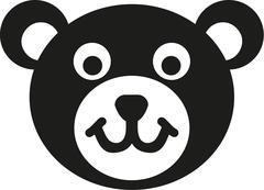 Teddy bear head icon - stock illustration