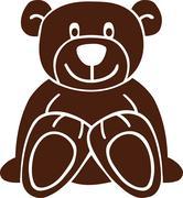 Isolated teddy bear Stock Illustration