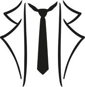 Legere suit with tie - stock illustration