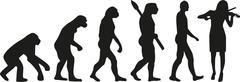 Violinist evolution - stock illustration