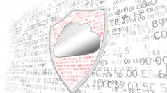 The concept of data protection. Concept of protection of important data. The Stock Footage