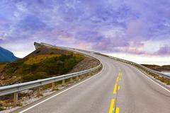 Fantastic bridge on the Atlantic road in Norway Stock Photos