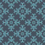 Ornate Floral Decor for Wallpaper. - stock illustration