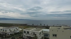The hotel is on the island of Cyprus with a view of the sea Stock Footage