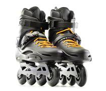 Pair of inline skates isolated on white background. Stock Photos