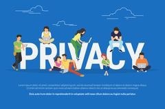 Privacy concept illustration - stock illustration
