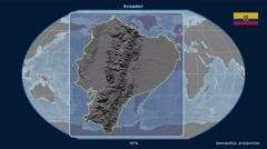 Ecuador - 3D tube zoom (Kavrayskiy VII projection). Bumps - stock footage