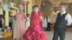 Children dancing, singing songs at a kindergarten Stock Footage