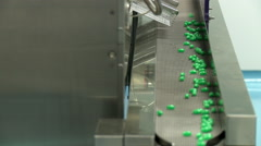 Pill collection track - stock footage