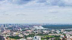 Bangkok city landscape daytime. Stock Footage