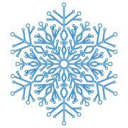 Pretty Round Snowflake - stock illustration