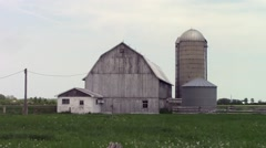 Decrepit Barn and silo Stock Footage
