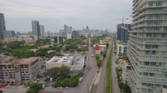 Aerial drone tour Midtown Miami Stock Footage