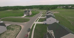 Aerial View New Housing Development Stock Footage