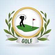 Golf design. Sport icon. Isolated illustration, editable vector Stock Illustration