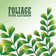 Foliage icon design - stock illustration