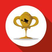 Tennis design. Sport icon. Isolated illustration, editable vector - stock illustration