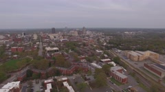 Flying above Raleigh, NC on a cloudy spring day. Stock Footage