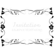 Invitation card with floral pattern Stock Illustration