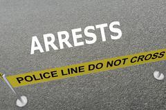 Arrests police concept - stock illustration