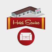 Hotel design. travel icon. Isolated and flat illustration - stock illustration