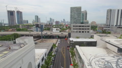 Aerial stock video Design District and Midtown Miami Stock Footage