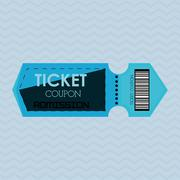 Ticket icon design - stock illustration